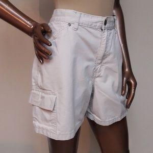 Vintage Style Khaki Cargo Shorts by Riders
